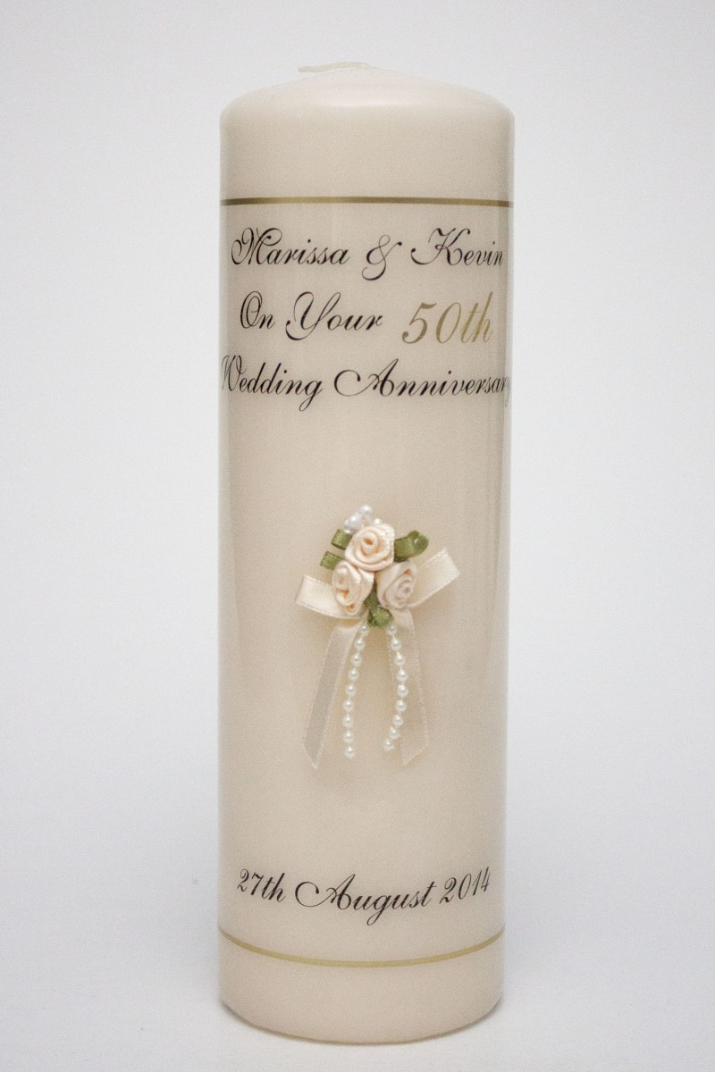 Description This Beautiful Candle Is A Perfect Gift For Anyone Celebrating Their 50th Wedding Anniversary
